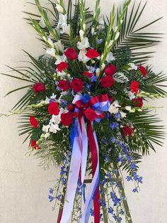Sympathy tribute Casket Sprays, Sympathy Flowers, Christmas Wreaths, Holiday Decor, Holiday Burlap Wreath