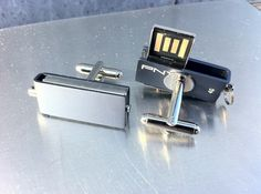 USB Flash Drive Cufflinks by candango on Etsy, $75.00