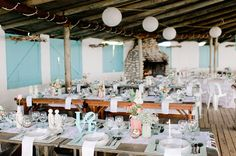 wedding reception ideas - photo by Nadia Meli http://ruffledblog.com/western-cape-beach-wedding