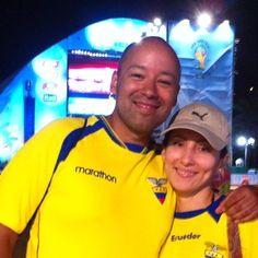 """Sejam bem-vindos a Natal, @sbrlike e @chicajackson! :D O casal veio torcer para o Equador na #fanfestnatal. Eles disseram estar adorando a cidade, que é """"muito bonita""""! ;) Daqui eles seguem para Belo Horizonte!"""