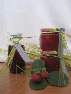 Himbeer-Balsamico, Kirsch-Balsomico-Pfeffer Marmelade & Erdbeer-Rotkäppchen Marmelade von Monika & Mathias