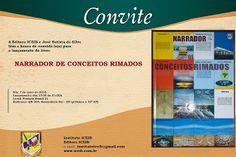Maria Montillarez: Lançamento do livro NARRADOR DE CONCEITOS RIMADOS,...