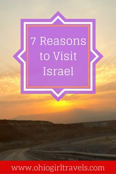 Israel is full of good food, rich culture, and beautiful landscapes everywhere you look. There are plenty of reasons to visit the beautiful country of Israel, but click through to read what our top 7 reasons to visit Israel are. Don't forget to save this to your Israel travel or travel inspiration board!