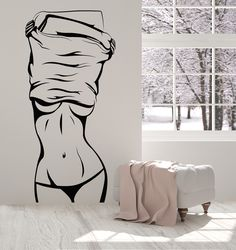 Vinyl Wall Decal Hot Sexy Girl Beautiful Female Body Striptease Stickers (1326ig)