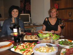 Dinner party at my place in Barcelona with the Scandies.