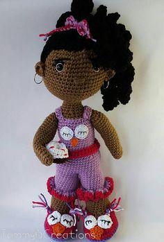 Pajama Mama Doll  18  20 Handmade Crochet Doll by TammyBCreations