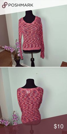 Adorable Multi Colored Knitted Top In excellent condition! Very light and breathable! Tops Tees - Long Sleeve