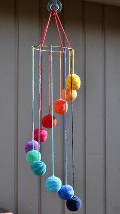 Rainbow Baby Mobile baby mobile Items similar to Rainbow Baby Mobile on Etsy Crochet Baby Mobiles, Crochet Mobile, Crochet Toys, Knit Crochet, Rainbow Nursery, Rainbow Baby, Knitting Patterns, Crochet Patterns, Rainbow Crochet