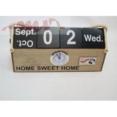 Cutie cu ceas si calendar Flip Clock, Calendar, Sweet Home, Wedding, Home Decor, Home, Mariage, Homemade Home Decor, House Beautiful
