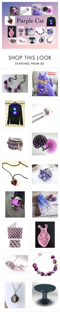 """""""Purple Cat: Adorable Unique Gifts"""" by paulinemcewen ❤ liked on Polyvore"""