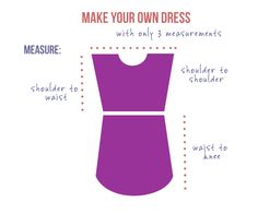 How to make a DIY dress pattern with only 3 measurements
