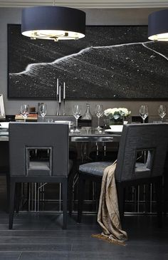 Boscolo | High End Luxury Interior Designers in London I love the flooring, lighting, and table and chairs, however, I may want the chairs a little taller, and less clutter looking, with a bar, wine cooler, etc.