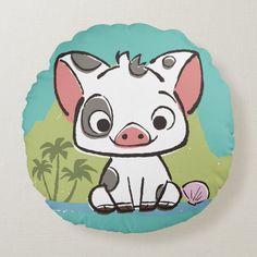 Moana | Pua The Pot Bellied Pig Round Pillow