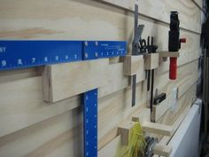 Image result for woodshop wall organization