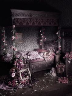 Sleeping beauty room. Wonder if my husband would mind the master bedroom looking like this. Lol