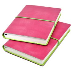 Ciak Pitti Soft Leather Journal in Pink at Jenni Bick Bookbinding. Add personalization with a name or logo!