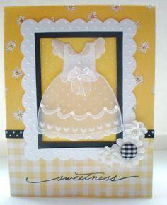 Baptism Dress by Nannygirl - Cards and Paper Crafts at Splitcoaststampers