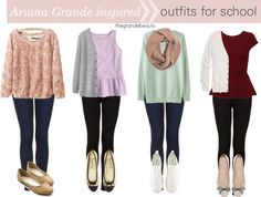 Ariana Grande fashion outfits for school