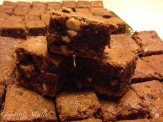 Brownie,Montersino, Omar Busi, nocciole pralinate, cioccolato, torta da forno, torta al cioccolato,torta americana