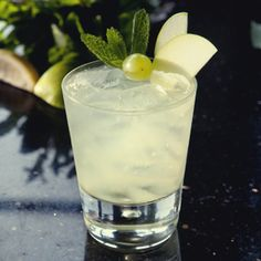 Space Gin Smash:  Famed British bartender Angus Winchester likes to mix up this fruity tipple on rainy days.