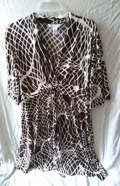 AA Studio Ruched Center Casual Work Stretchy Dress Plus Size 18W #Aastudioaa #Plunge #PlusSizeDress