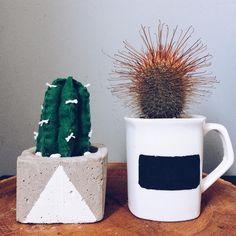 cacto   cactus   caneca   feltro   lousa   feito a mão, diy, handmade   by @gavetamix   http://www.youtube.com/gavetamix
