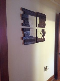 made this for my hallway with wood from a pallet. Love how it came out! #louisiana