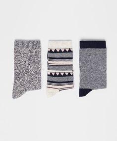 Pack of geometric pattern socks - OYSHO