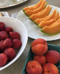The most delicious fruit from Baldor! Cavaillon melon, red velvet apricots, and Harry's Berries!
