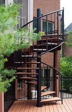 Exterior Spiral Staircase Metal Steel