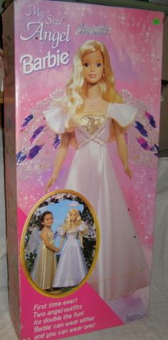 1998 My Size Angel Barbie with Box and 2 Halos Instructions | eBay