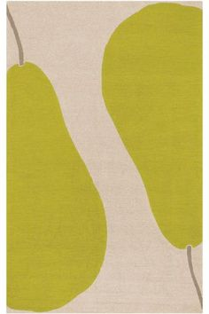 POIRE AREA RUG art imitates style with this fruitful area rug from Home Dec