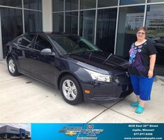 I received an advertisement in the mail offering up to 6,000 dollars in trade in.  I called they said I would qualify. About an hour later I received a call from Eric.  Upon arrival I told Eric what I would require and he showed the cruze. Chris in finance was very helpful.  I recommend them to people quite often. - Glendia J. White, Monday, September 01, 2014 http://www.crossroadsjoplin.com/?utm_source=FlickR&utm_medium=DMaxxPhoto&utm_campaign=DeliveryMaxx