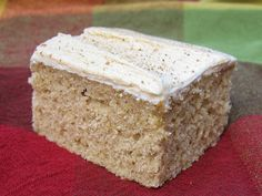 Maple Spice Cake with Maple Buttercream Maple Dessert Recipes, Baking Recipes, Snack Recipes, Fall Desserts, Fall Recipes, Diet Recipes, Recipies, Brownie Recipes, Chocolate Recipes