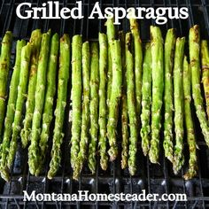 Delicious recipe for grilled asparagus with butter lemon sauce. Montana Homesteader