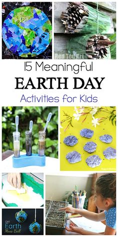 15 Meaningful and Hands-on Earth Day Activities for Kids #earthday #kidsactivities #kidscrafts