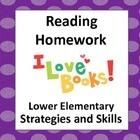 Classroom Tested – Reader Response Homework Forms (39 Reading Comprehension Strategy and Skills Forms Included)! Designed for Lower Elementary! TpT