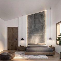60 Ideas For Bedroom Interior Design Rustic Modern Master Bedroom, Modern Bedroom Design, Modern Bedrooms, Modern Bedroom Lighting, Modern Lighting, Bedroom Interior Design, High Ceiling Lighting, Simple Bedrooms, Dark Ceiling
