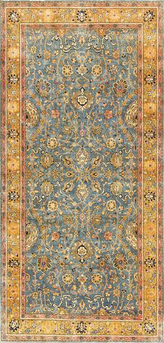 Antique Gallery Size Indian Agra Rug 48726