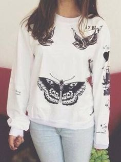 Harry Styles tattoo sweatshirt :O I WANT THIS!!
