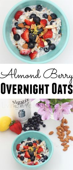 Use filmjölk for a protein packed, probiotic-filled take on overnight oats. Adding almonds and berries adds fiber and deliciousness. Almond Berry Overnight Oats from Living Well Kitchen