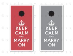 Wedding Cornhole Set w/ Bags  Keep Calm and by stylemycorntoss, $195.00