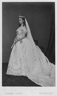 Marie Hohenzollern - 1867 Countess of Flanders wedding dress
