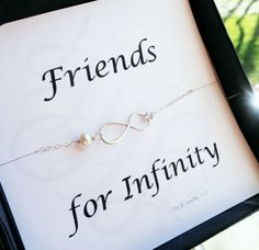 For my amazing friends/bridesmaids!!Friendship card with silver infinity bracelet by BriguysGirls