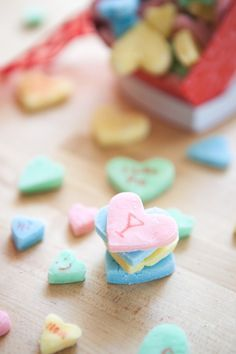 Boozy Valentine's Day Candy Hearts