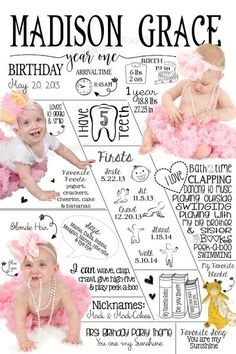 All About Me Infographic Sign, First Birthday Poster First Birthday Posters, Madison Grace, Vinyl Backdrops, Birthday Chalkboard, Babies First Year, High Resolution Photos, Peek A Boos, Birthday Parties, Birthday Ideas