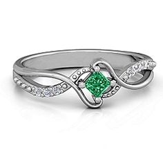 """""""Espiral"""" Princess cut Ring with Accents #jewlr"""
