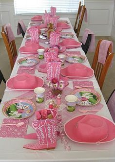 Adorable Cowgirl party table idea!