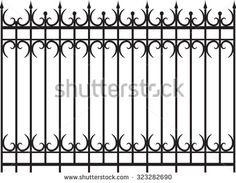 Find steel fence design stock images in HD and millions of other royalty-free stock photos, illustrations and vectors in the Shutterstock collection. Fence Wall Design, Grill Gate Design, Balcony Grill Design, Iron Gate Design, Wrought Iron Driveway Gates, Gates And Railings, Wrought Iron Stairs, Metal Gates, Compound Wall Design