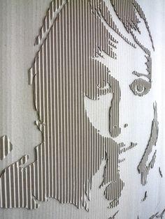 #Cardboard Portrait (Jane)- byAndreas Scheiger